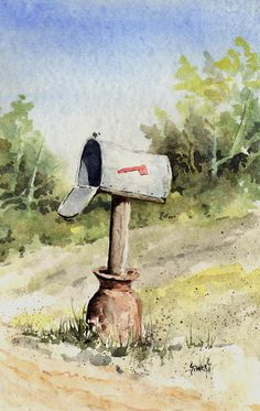 Mailbox Painting by Sam Sidders - Mailbox Fine Art Prints and Posters for Sale