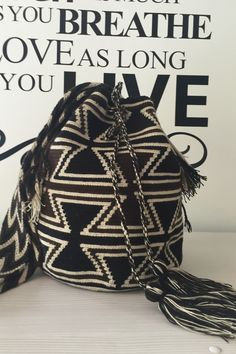 Cafe' Wayuu Mochila Bag  Kool for Dudes too 😎  hotchakrasyoga.com @hotchakrasyoga Hot Yoga, Chakras, Hand Crochet, Drawstring Backpack, Shoulder Strap, Just For You, Lifestyle, Health, Bags
