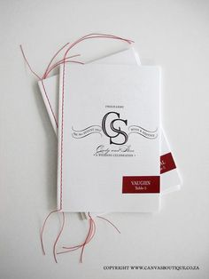 Order of Service - Canvas Stationery Boutique Invitation Cards, Wedding Invitations, Invites, Order Of Service, Booklet, Hand Stitching, Programming, Stationery, Events
