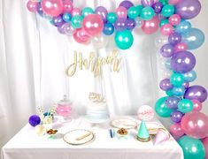 Balloon Garland Kit | Unicorn Balloon Garland | Mermaid Balloon Garland | Party Balloon Garland | DIY Balloon Garland Kit | Balloon Kit Details:  Length: ♥ available in 5, 10 (shown - 110 balloons), 15, or 20 long  Whats Included: ♥ an assortment of 11 and 5 balloons to create the