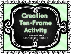 Creation Ten-Frame Activity Ten Frame Activities, Accordion Book, Activity Centers, Haiti, Things To Do, Student, Teaching, Simple, Fun