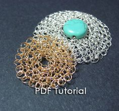 Howto crochet wire. Wire crochet pattern of Flat by SigalsDesigns