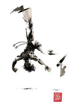 Encres : Capoeira – 592 [ #capoeira #watercolor #illustration]