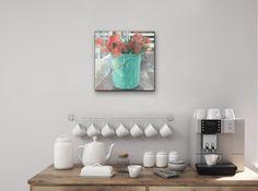 Jeannie Kinsler: A Bucket Of Pincushions: fine art | StateoftheART South African Art, Long Shadow, Pebble Painting, Pincushions, Canvas Size, Home Art, Original Artwork, Bucket, Home Decor