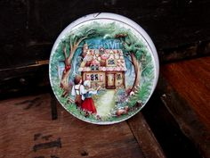 Hansel And Gretel Tin - Fairy Tale Tin - Vintage Tin - Churchills Tin - Gingerbread House - Sweet Tin - Churchills Sweets - Candy Tin by MissieMooVintageRoom on Etsy