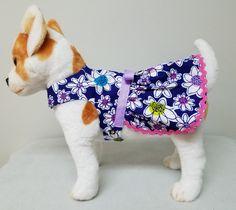 Perro ropa brillante flor vestido Chihuahua Yorkie