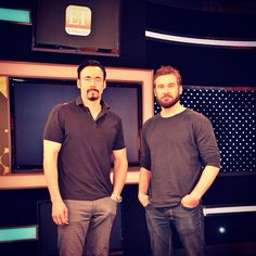 Fun day on set @etcanada today with #Vikings stars @Kevin_Durand and @CliveStanden #setlife