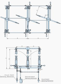 An example of disconnect switch (GE, type Civil Engineering Works, Electrical Engineering, Electrical Substation, Electrical Equipment, Aluminium Alloy, Locker Storage, Layout, Concept Cars, Jeep