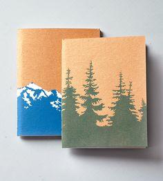 Mountain Notebook & Pines Notebook Set