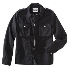 Cotton casual jacket in black