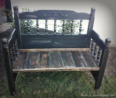 I was driving my kid's to school one morning when I spotted this headboard and foot-board on someones curb waiting for trash pick-up! I dr...