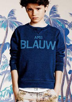 Scotch Shrunk amsterdams blauw : denim label summer 2015 kidsfashion #blauw #sweater #kidswear