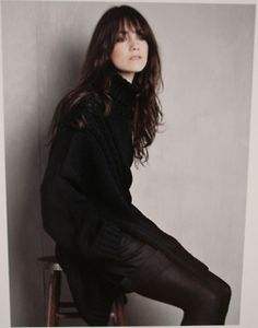 Charlotte Gainsbourg, daughter of English actress Jane Birkin, and French provocateur Serge Gainsbourg. Love this woman!
