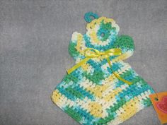 Angel Crochet Dishcloth by craftheart on Etsy, $3.50