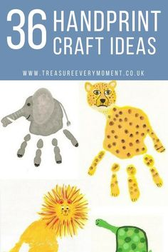CHILDREN: 36 Handprint Craft Ideas