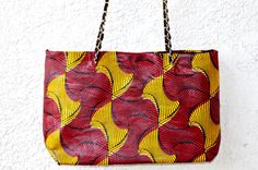 African Ankara Print  Fabric Red And Yellow by ZabbaDesigns, $60.00