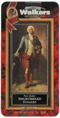 Walkers Shortbread Fingers, 14.1-Ounce Bonnie Prince Charlie Tin: Amazon.com: Grocery & Gourmet Food