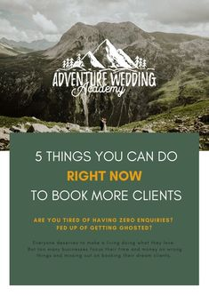 5 Things you can do right now to book more wedding & elopement photography clients Photography Business, Wedding Photography, Elopements, Right Now, 5 Things, You Can Do, Tired, Photographers, Zero