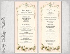 Free Wedding Program Cover Template  Wedding Programs Template