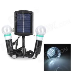 This product is solar-powered LED bulb. In the daytime, the solar panel converts solar energy into electrical energy and store in the built-in batteries. And in the evening, the light-control system makes it go on automatically. In addition, it is easy to install, high brightness and energy saving. It is perfect illumination widely used in the place of balconies, courtyards, gardens, shop windows, etc. http://j.mp/1tpeLuc