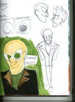 Sketchpage 5: ROUGH Character Designs: Villan by LanceOliverFreidom