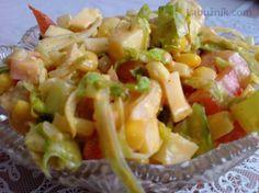 Zeleninový salát s kuřecím masem Pasta Salad, Sugar Free, Salad Recipes, Potato Salad, Healthy Snacks, Cabbage, Salads, Food And Drink, Cooking Recipes
