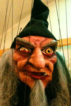 Perfect for Halloween - witch puppet in Prague