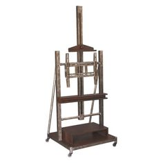 Hammary Structure Heavily Distressed Brown Media Easel