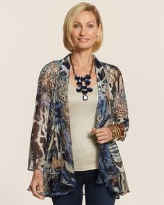 Chico's Kenitra Sheer Animal Jacket #chicos