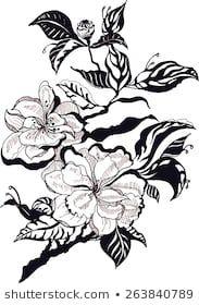 Similar Images, Stock Photos & Vectors of Flower design elements vector - 252583555 Flower Branch, Stencil Patterns, Flower Designs, Art Sketches, Design Elements, Vectors, Royalty Free Stock Photos, Vector Stock, Artist