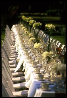 cottonwood: Long tables