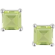 Even nicer!  August birthday with these square peridot stud earrings. These August gems epitomize class and simplicity when worn with the classic black dress.