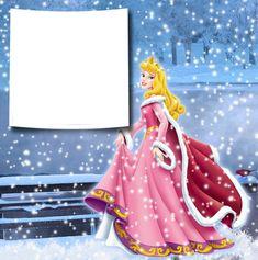 Transparent Christmas Winter Princess Aurora PNG Photo Frame