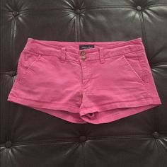 Preppy Bright Pink American Eagle Shorts Preppy short shorts perfect for your next croquet party! American Eagle Outfitters Shorts