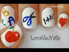 Back to School ♥ nail art by LuvableNails