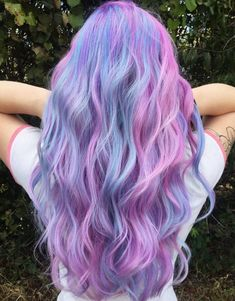 32 Cute Dyed Haircuts To Try Right Now - coloured hair - Hair Colors Cute Hair Colors, Pretty Hair Color, Hair Color Purple, Hair Dye Colors, Unicorn Hair Color, Cotton Candy Hair, Fairy Hair, Crazy Hair, Rainbow Hair
