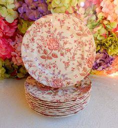 10 Beautiful Johnson Brothers Dinner Plates ~ Rose Chintz ~ Pink #1 #JohnsonBrothers