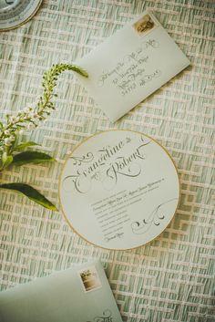 Wedding Stationery: Luster Designs Photography: Trenholm Photo Linens: LaTavola Linens Wedding artisans @ The Perfect Match Wedding Concierge, Naples, Fl. www.theperfectmatchstudio.com