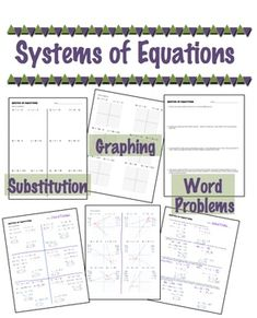 207 Best Systems Of Equatios By Substitution Images On Pinterest