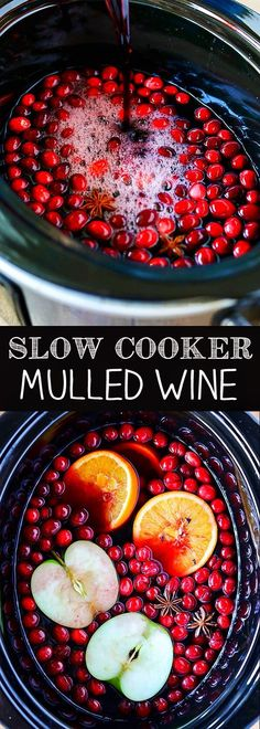 Cooker Mulled Wine Slow Cooker Mulled Wine is packed with fruity flavors and warm spices, and is perfect for the holidays.Slow Cooker Mulled Wine is packed with fruity flavors and warm spices, and is perfect for the holidays. Christmas Drinks, Holiday Drinks, Holiday Recipes, Christmas Time, Festive Cocktails, Christmas Entertaining, Winter Drinks, Homemade Christmas, Christmas Projects