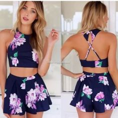 Two piece romper set, floral! Floral two piece romper set.. Super cute and perfect for summer just didn't fit me when I ordered online. Other