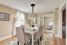 French doors from dining room to family room
