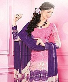 Lend that much coveted grace to your outfit with this pretty suit! In one swift move  these exquisite piece can instil a dash of feminity coupled with ethnicity and beauty!BRAND: BrijrajCATEGORY: Unstitched Suit with DupattaARTICLECOLOURMATERIALLENGTHTopPinkGeorgette Brasso2.75 metersBottomPurplePoly Crepe2.25 metersDupattaCream and PurplePoly Georgette2.30 metersWe would always want to send you what we showcase but there might be a slight variation in color due to photographic effects…