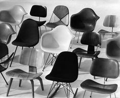 Exploring the history behind the Eames lounge chair - an icon of mid-century modern design. Vintage Furniture, Modern Furniture, Home Furniture, Furniture Design, Chair Design, Futuristic Furniture, Plywood Furniture, Lounge Chair, Rocking Chairs