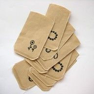 little bags made of coffee filters - clever!
