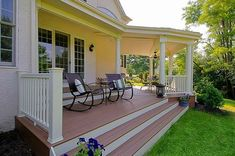 front wooden steps off closed in porch - Google Search