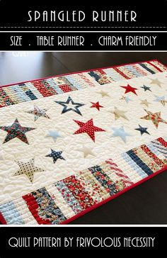 cute 4th of July table runner