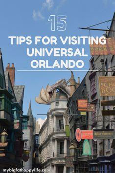 15 Tips for Visiting Universal Orlando including Universal Studios and Islands of Adventure | mybigfathappylife.com