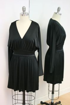 Halston Heritage Black Kimono Mini Dress Size S #HalstonHeritage #Kimono