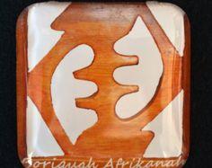 Refrigerator Magnets, Magnets, Home Decor, African American Art, Afrocentric Art, Black Art, Tribal Art, Kitchen Decor, Adrinka, Gye Nyame